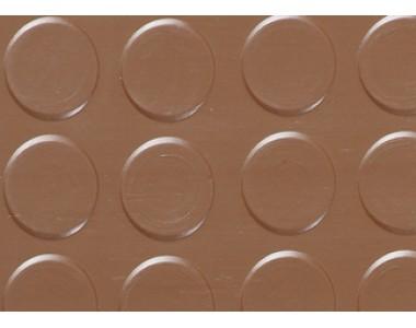 Автолинолеум Автолин Стандарт с пятачками КОРИЧНЕВЫЙ, ширина рулона 1,5м